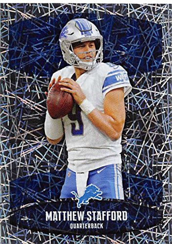 2018 Panini NFL Stickers Collection #293 Matthew Stafford Detroit Lions Foil Official Football Sticker