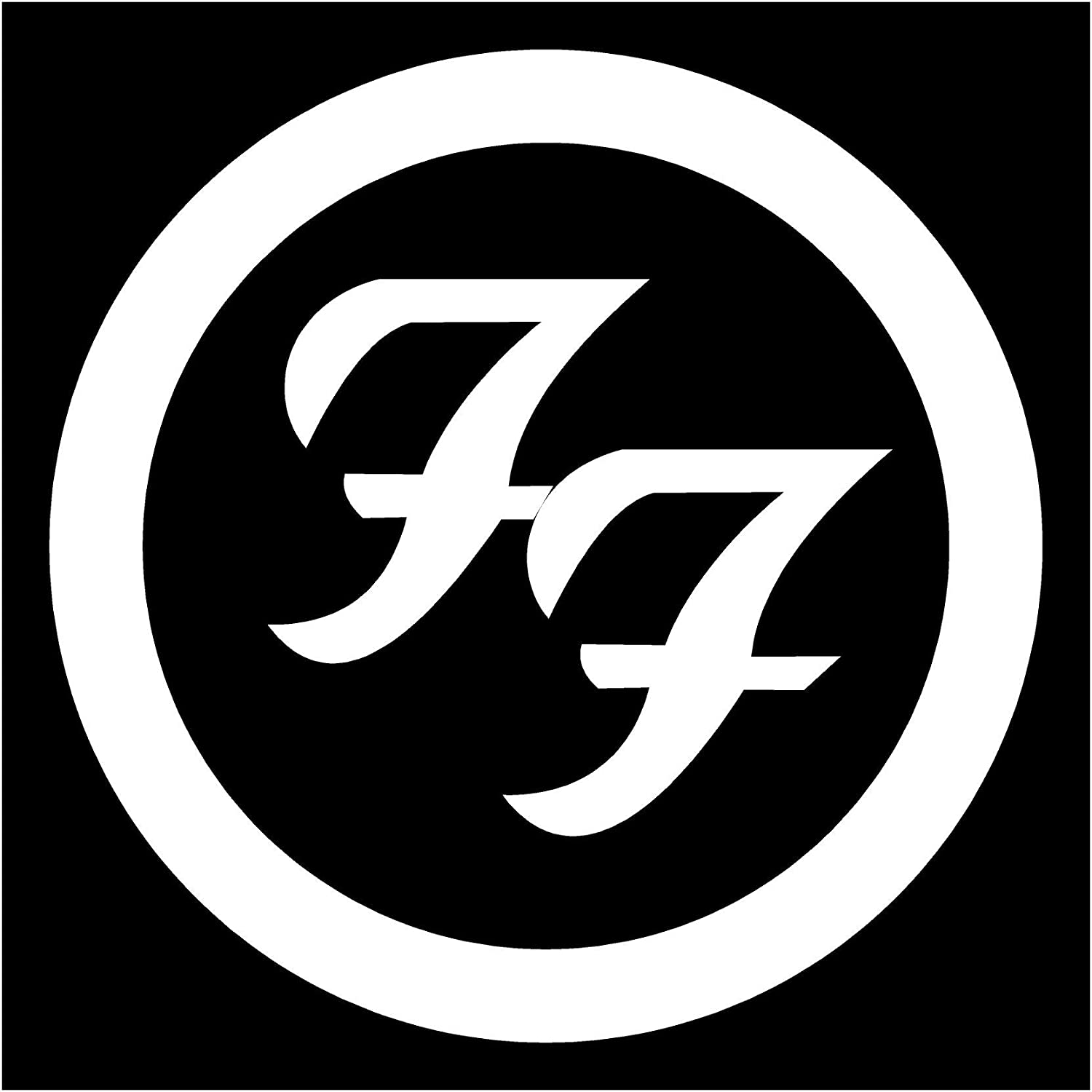 Amazon Foo Fighters Band White Logo Decal Sticker Automotive