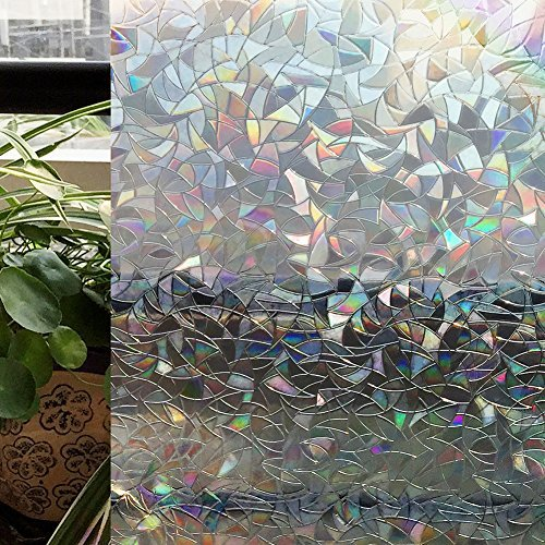 CottonColors Premium No-Glue 3D Static Decorative Window Films, 35.4In X 78.7In.(90 x 200Cm) (Stained Glass Film)