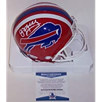 Jim Kelly Autographed Hand Signed Buffalo Bills Throwback Mini Football Helmet - BAS Beckett Authentication photo