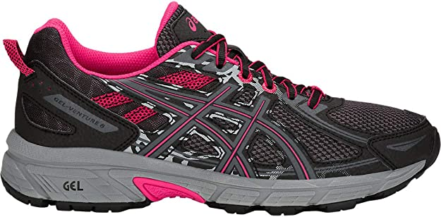ASICS Women's Gel-Venture 6 Running Shoes, 6M, Black/Pixel Pink
