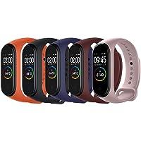 Acalder Compatible con Mi Smart Band 4,5 Piezas Correa para Xiaomi Mi Band 3/4 Pulsera Banda - Silicona Reloj de…