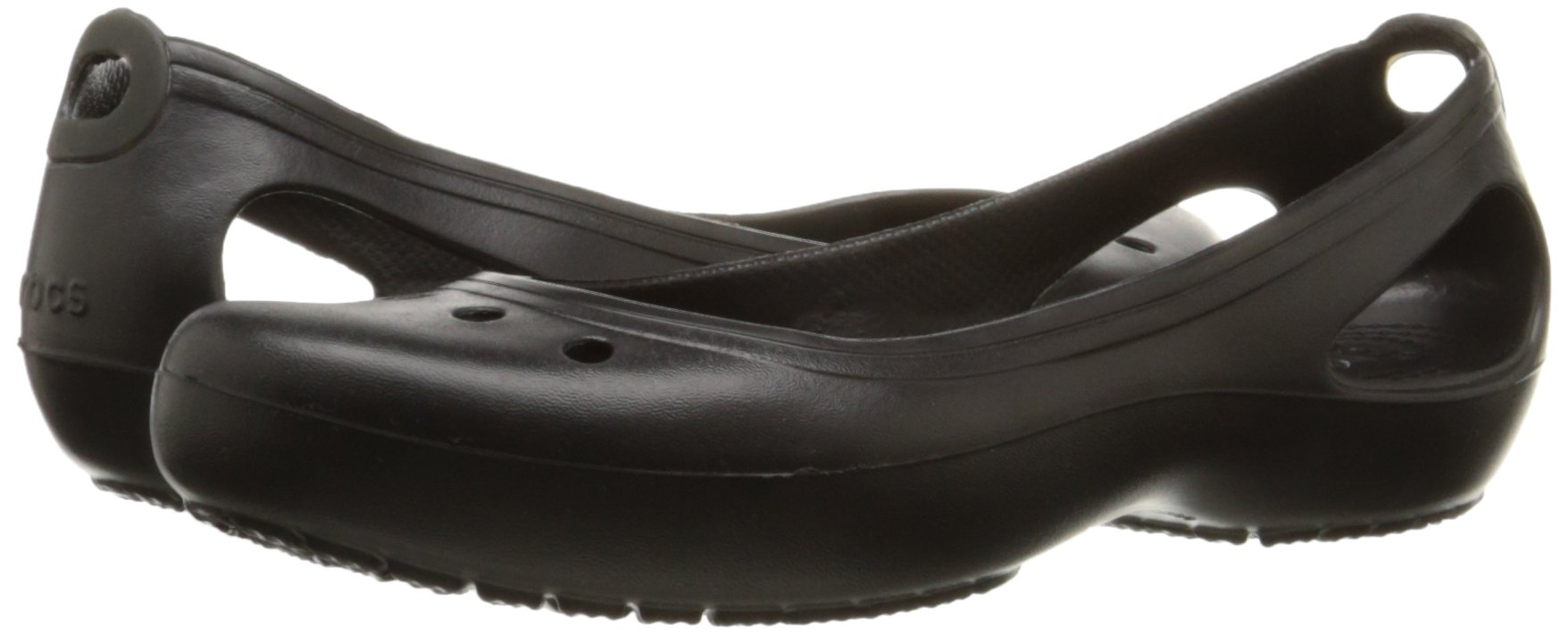 Crocs Women's Kadee Ballet Flat,Black/Black,8 M US by Crocs (Image #6)