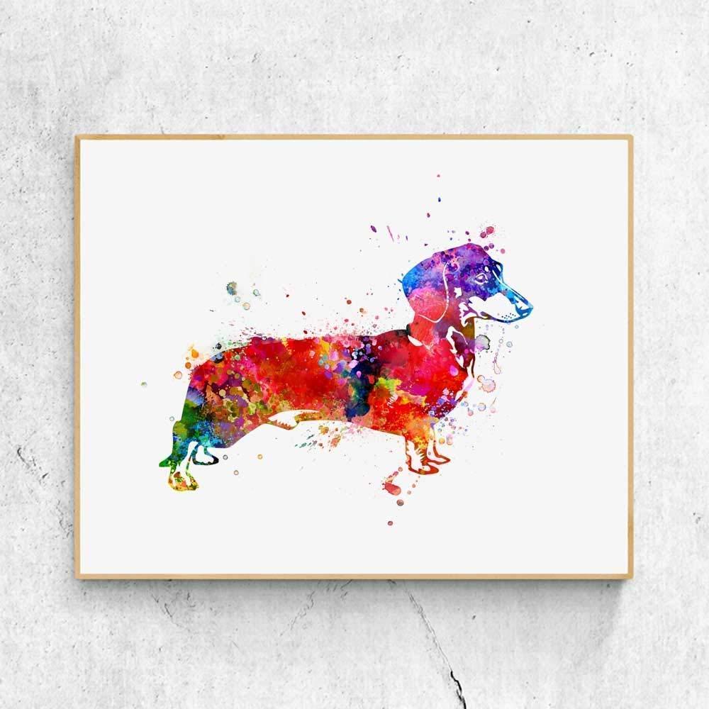 great dane dog 8x10 art print poster watercolor painting