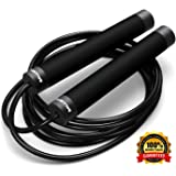 Ballistyx Jump Rope - Premium Speed Jump Rope with 360 Degree Spin, Steel Handles, Silicone Grips and 2 x Adjustable Cables - for Crossfit, Gym & Home Fitness Workouts & More