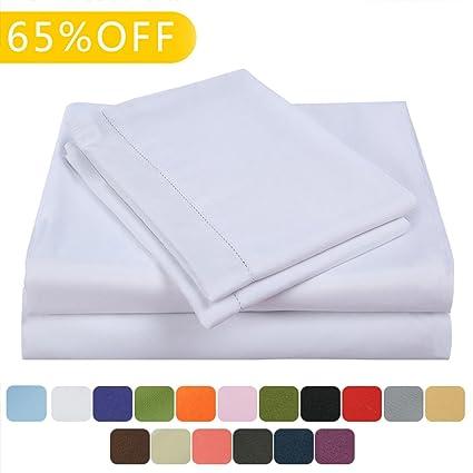 Balichun Bed Sheets Set Hotel Luxury Platinum Collection 1800 Series Bedding  Sheet Set Deep Pockets Wrinkle