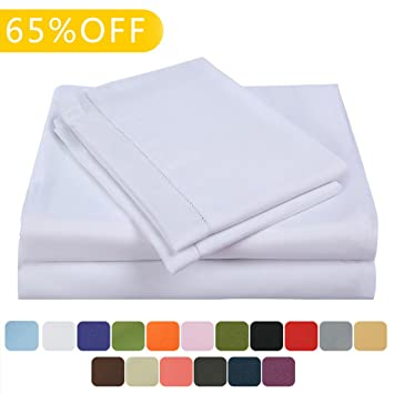 Balichun Deep Pocket Bed Sheet Set Brushed Hypoallergenic Microfiber 1800  Bedding Sheets Wrinkle, Fade,