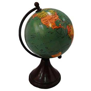Handmade globe world map round shape 4 green ball globe home dcor handmade globe world map round shape 4 green ball globe home dcor plastic stand plastic gumiabroncs Gallery