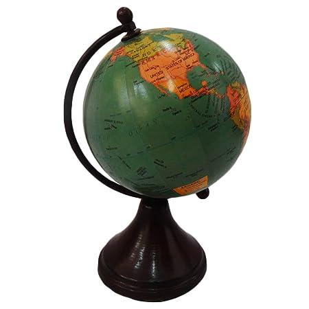 Handmade globe world map round shape 4 green ball globe home dcor handmade globe world map round shape 4 green ball globe home dcor plastic stand plastic gumiabroncs Images
