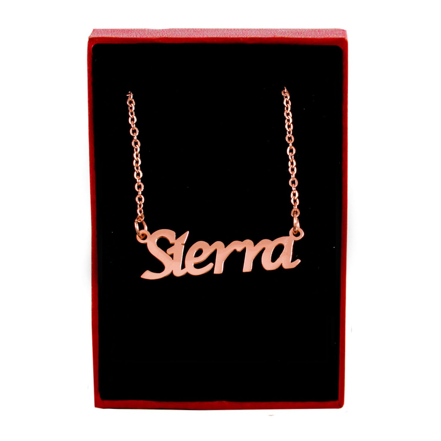 Zacria Sierra Name Necklace 18ct Rose Gold Plated