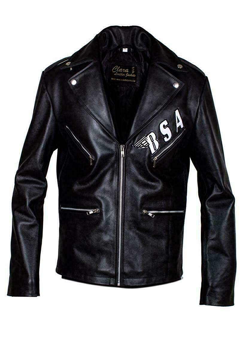Giacca in Vera Pelle Clara Leather Jackets George Michael BSA Faith Rockers Revenge Colore Nero