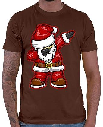 HARIZ Herren T-Shirt Dabbing Santa Weihnachtsmann Nikolaus Dab Dabbing  Tanzen Weihnachten Plus Geschenkkarten Braun XL  Amazon.de  Bekleidung 055645d60a