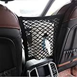 Pet Set Barrier Net Storage Mesh Universal 2 Layer Car Seat Cargo Net Hook Pouch Holder Stretchable Back Seat Pet Dog Barrier To Keep Your Pets And Drivers Safety In Travel (Black)