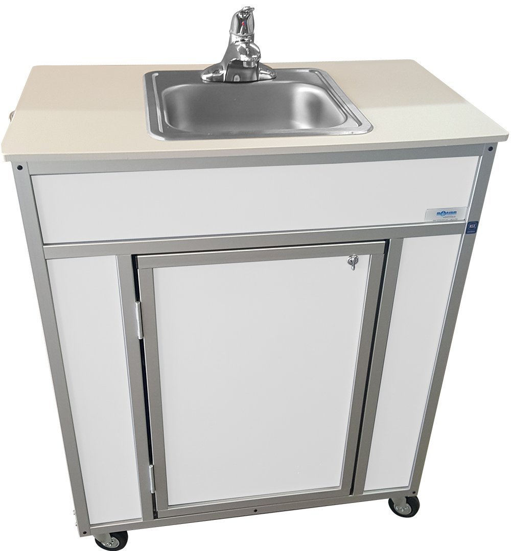 Monsam NS-009S NSF Certified Single Basin Self Contained Portable Sink, White by Monsam Enterprises