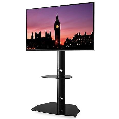 RFIVER Mobile Porta TV da Pavimento Angolo 3-in-1 Supporto TV con Girevole  Regolabile in Altezza per TV LCD LED Plasma da 27\
