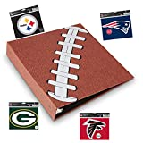 Pigskinz - 3 Ring Football Binder - Embossed Paper Looks and Feels Like a Real Football - Football Card Binder - Custome with Team Decals