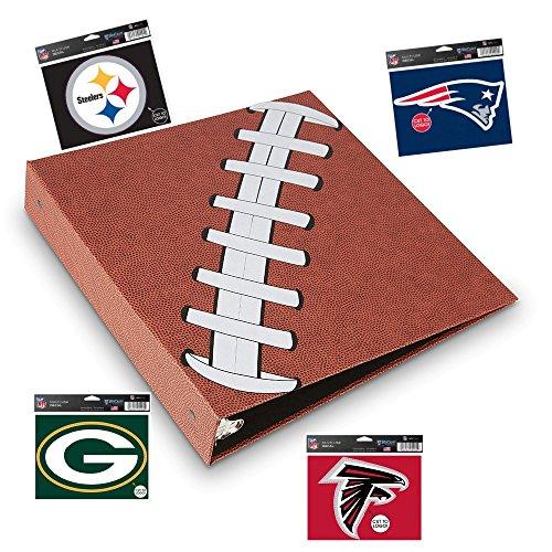 3 Ring Football Binder Embossed Paper Looks