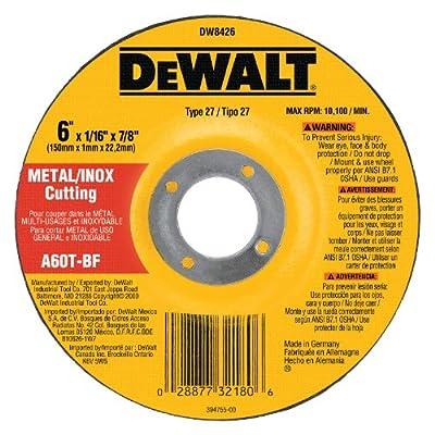 DEWALT DW8426 6-Inch by 1/16-Inch by 7/8-Inch Metal/INOX Cutting Wheel (25-Pack)