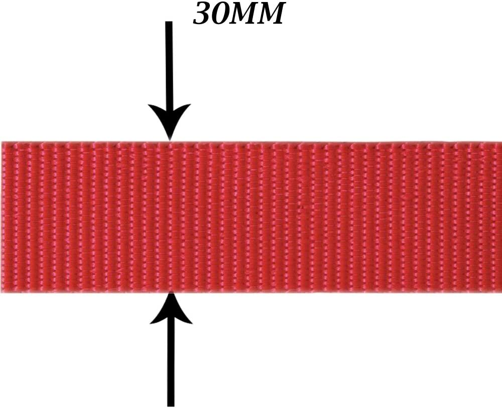 merceriaeco Cinta Mochila Polipropileno-Nylon 30mm 25mts Made in Spain Mochilas Correa para Cascos Moda Y Accesorios Bolsos