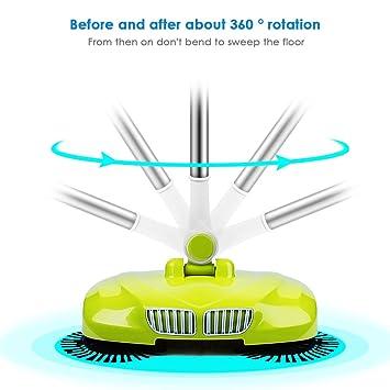 LianLe hogar automático mano empuje escoba escoba sin electricidad multifuncional profesión aspiradora robot de barrido, recogedor y cubo de basura de 3 en ...