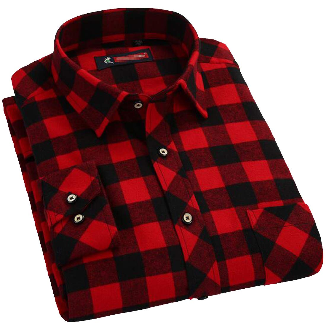 Sweatwater Mens Button Down Casual Slim Long Sleeve Flannel Plaid Buffalo Shirts