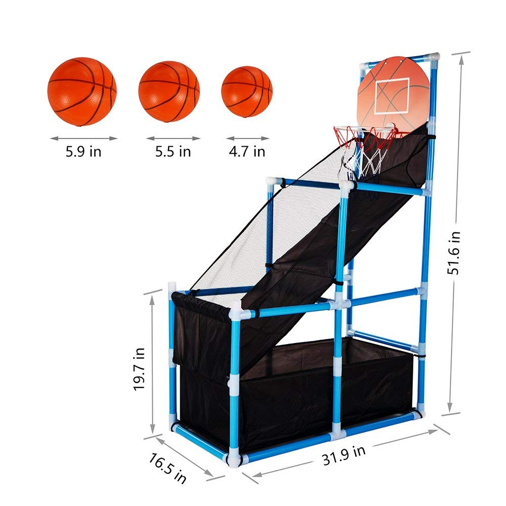 Toy Basketball Kids Basketball Hoop Arcade Game Toy - Toddler Toys Indoor Basketball Hoop Shooting Training System with Basketball for Boy Gift by Green
