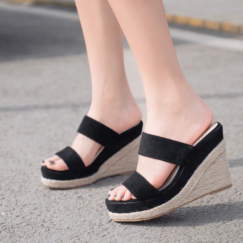 Memela Clearance sale Women Wedge Sandals Casual Sandals Retro Platform High Ankle Outdoor Sandals Round Toe Shoe