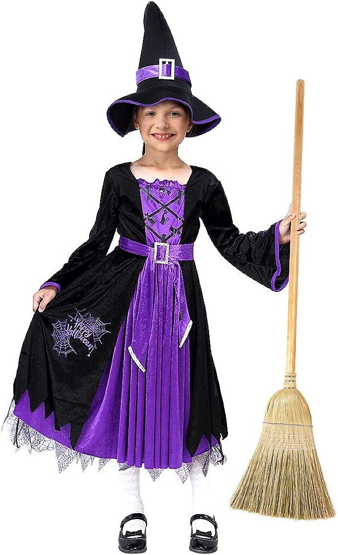 Costume Bambini Strega Streghe Costume streghe maga 128 cm