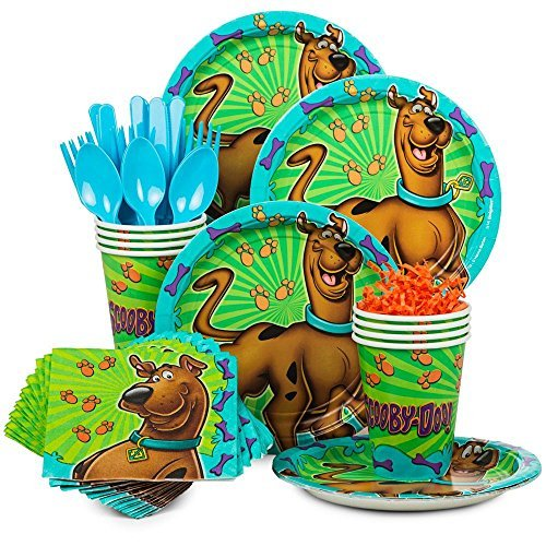Costume SuperCenter Scooby Doo Birthday Party Standard Tableware Kit Serves 8 -