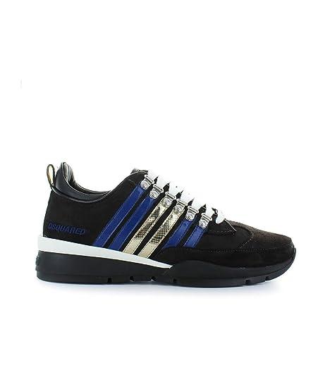 Zapatos de Hombre Zapatilla 251 Marrón Azul Dsquared2 Otoño Invierno 2019: Amazon.es: Zapatos y complementos