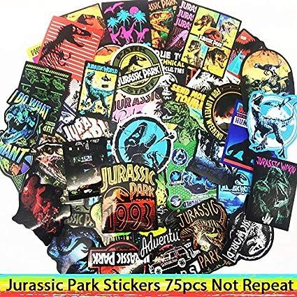 DADATU Pegatinas 75pcs Parque Jurásico Dinosaur Pegatinas para ...