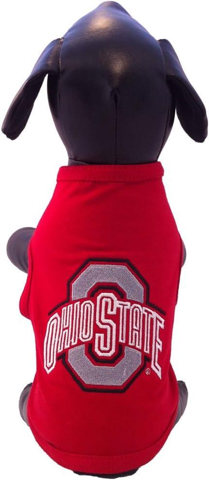 X-Small NCAA Ohio State Buckeyes Cotton Lycra Dog Tank Top