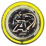 Trademark Gameroom NCAA Army Chrome Double Ring Neon Clock, 14''