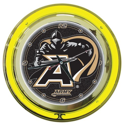 Trademark Gameroom NCAA Army Chrome Double Ring Neon Clock, 14'' by Trademark Gameroom