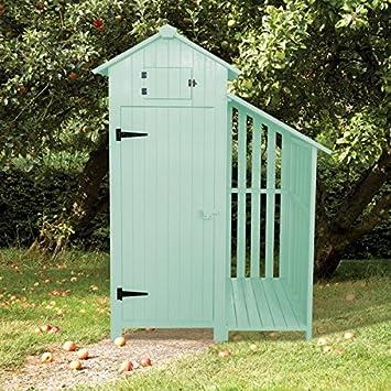 Sentry caja de madera jardín cobertizo de jardín y Log Store - Sage verde: Amazon.es: Jardín
