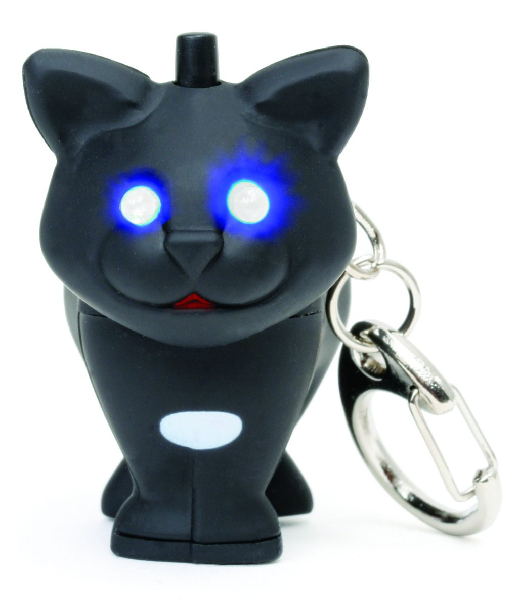 Kikkerland KRL26-CDU-EU Cat LED Keychain Carded/CDU KRL21-CDU