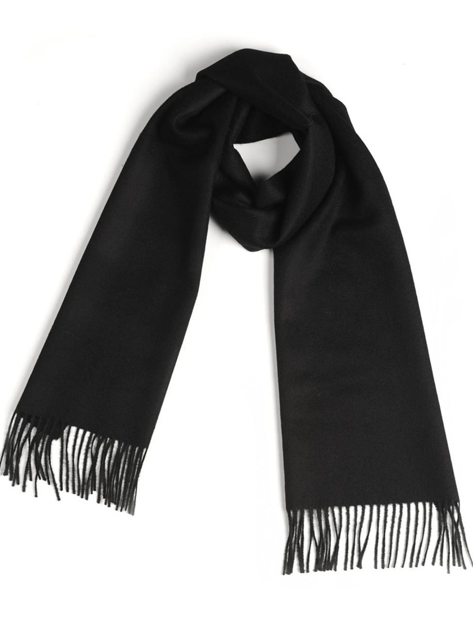 Luxury 100% Pure Baby Alpaca Scarf, for Men and Women - A Great Gift Idea in Many Colors (Black)