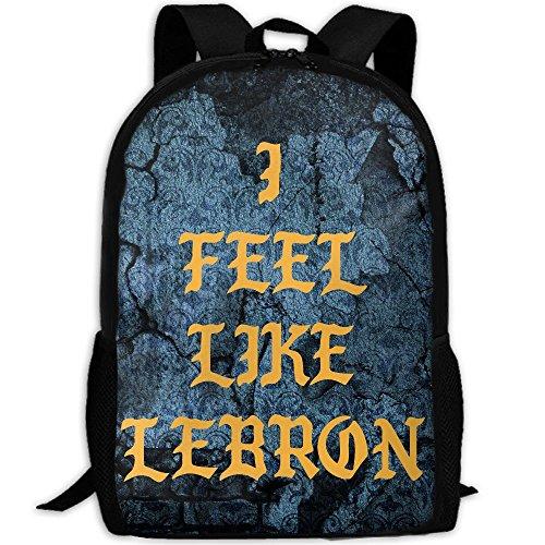 I FEEL LIKE LEBRON Interest Print Custom Unique Casual Backpack School Bag Travel Daypack ()