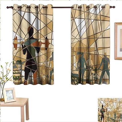 Amazon.com: superlucky fitness drapes for living room mosaic design