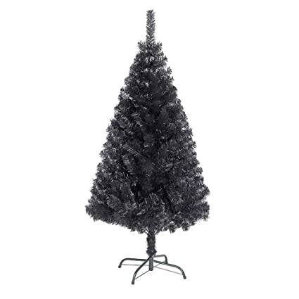 Shatchi 4ft Black Artificial Tree Imperial 230 Tips Artificial Tree With Metal Stand