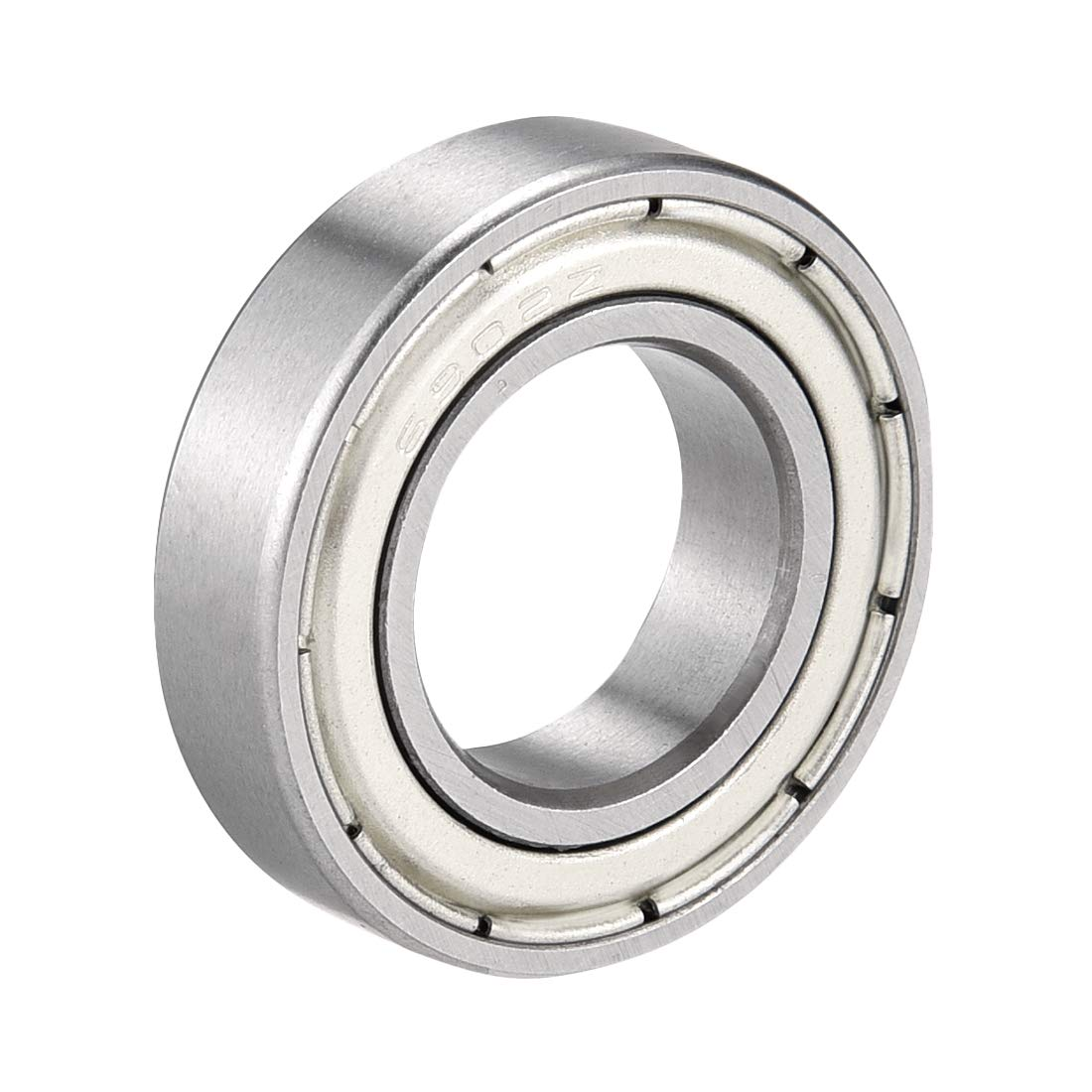 sourcing map 6802ZZ Deep Groove Ball Bearing Double Shield 6802-2Z 1060802 15mm x 24mm x 5mm Chrome Steel Bearings Pack of 10