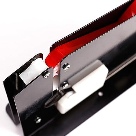 CLE DE TOUS - Máquina para cierra bolsas manual para frutería supermercado + 6pcs Cinta para cerrar bolsas planas cinta adhesiva 12mm de ancho Bag Neck ...