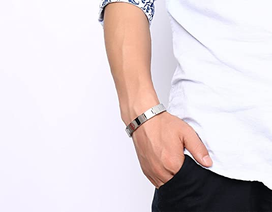 Mealguet Jewelry Pulsera de Acero Inoxidable Unisex con ...