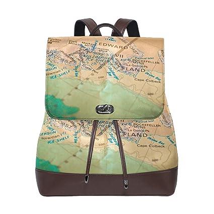 MALPLENA Mochila de Viaje con diseño de Mapa de la Escuela Edward