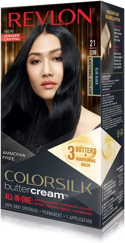 Revlon Luxurious ColorSilk Buttercream 12BB Negro - coloración del cabello (Negro, 12BB, Blue Black)