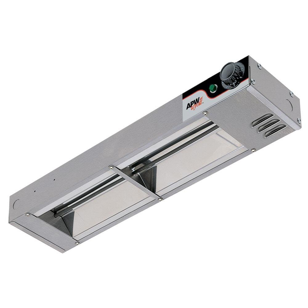 2.5 x 18.25 x 6 inch 1 each. Low Wattage APW Wyott Single Standard Toggle Control Calrod Overhead Warmer