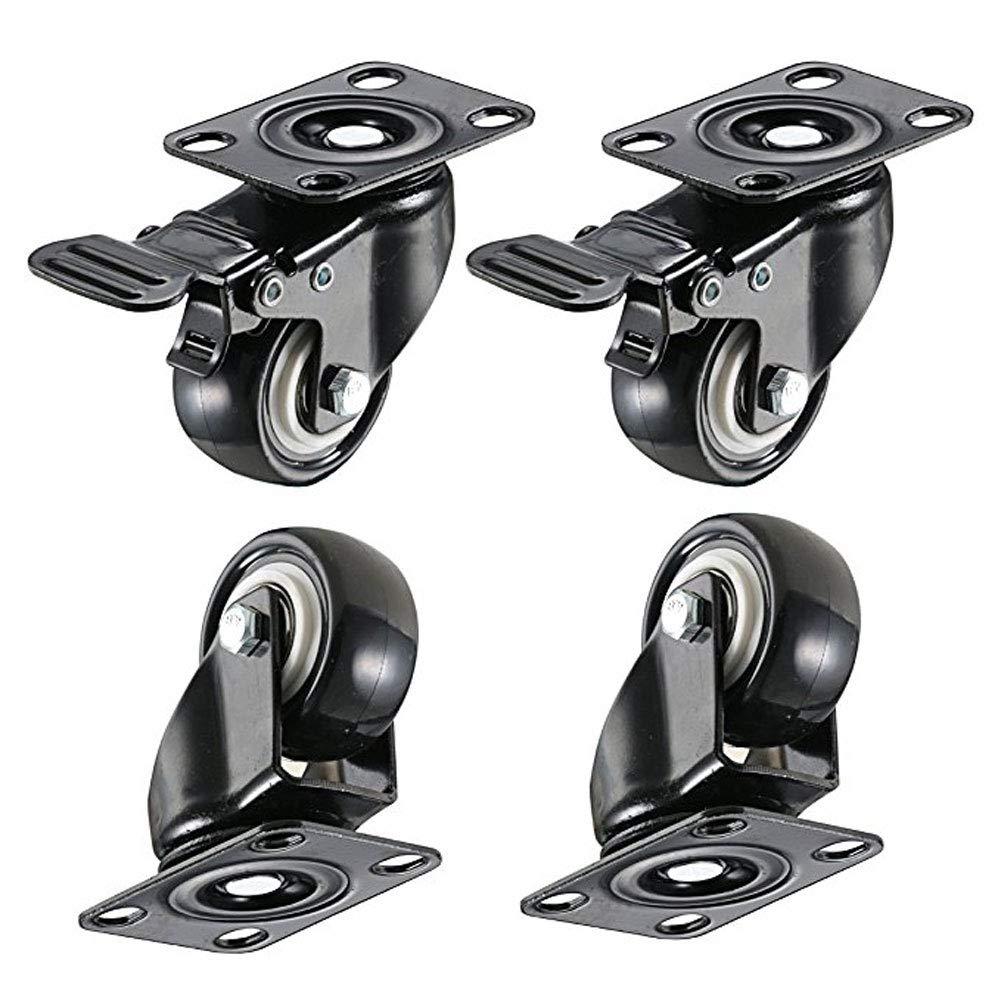 LBgrandspec 4 Pcs 2 Inch Axles Repair 360 Degree Rotation Caster Suitcase Replacement Wheels