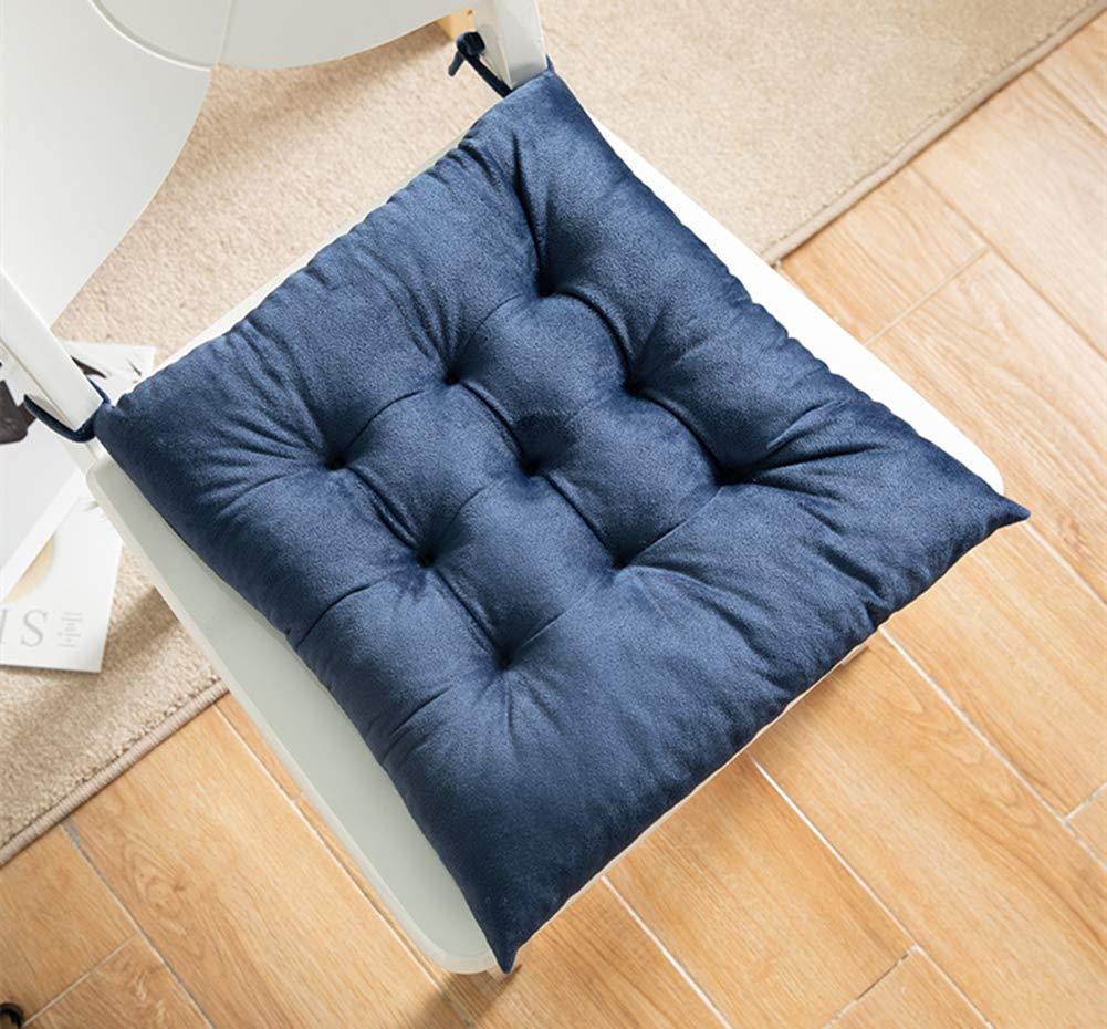 Azul balc/ón o terraza 35 x 35 cm Juego de 2 Cojines de Asiento de Terciopelo Martin Kench para jard/ín