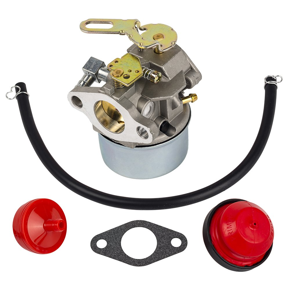 HIFROM Carburetor Carb with Mounting Gasket Fuel Line Primer Blub for Tecumseh 632107 632107A 640084 640084A 640084B Toro 521 Snow Blower HSSK40 HSSK50 HS50 LH195SA Small Engine Mower Generator