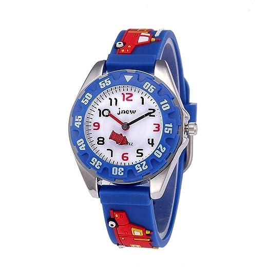 Reloj de Historieta para niños Cuarzo Impermeable, Reloj para Aprender a Leer la Hora,